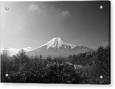 Fujisan Injapan Acrylic Print by B&W landscape street
