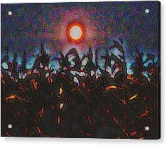 Full Harvest Moon Iowa Acrylic Print