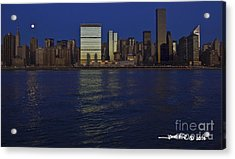 Full Moon Eastside Acrylic Print