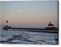 Full Moon Ice Acrylic Print by Whispering Feather Gallery