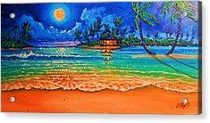 Full Moon Lagoon Acrylic Print by Joseph   Ruff