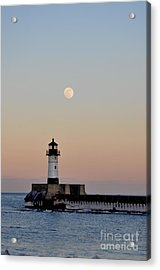 Full Moon Light Acrylic Print by Whispering Feather Gallery
