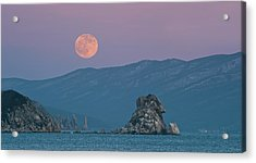 Full Moon Over Cape Laplace. Acrylic Print