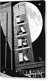Full Moon Over The Lark - Larkspur California - 5d18489 - Black And White Acrylic Print by Wingsdomain Art and Photography