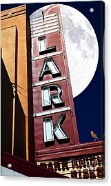 Full Moon Over The Lark - Larkspur California - 5d18489 Acrylic Print by Wingsdomain Art and Photography