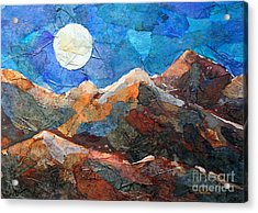Full Moon Over The Sierras Acrylic Print by Li Newton