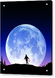 Full Moon Rising Acrylic Print by David Nunuk