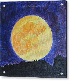 Acrylic Print featuring the painting Full Moon by Sonali Gangane