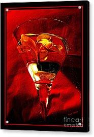 Fun In A Glass Acrylic Print by Kaye Menner