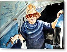Fun On Grandpa's Boat Acrylic Print