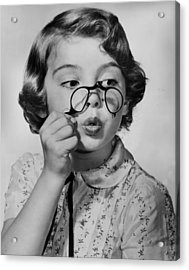 Fun With Pince-nez Acrylic Print by Archive Photos