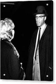 Funeral Of Malcolm X. Betty Little Acrylic Print