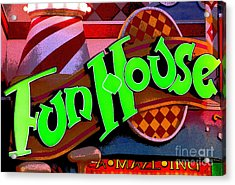 Funhouse Acrylic Print by Colleen Kammerer
