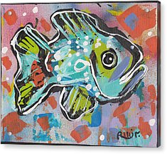 Funky Folk Fish 2012 Acrylic Print by Robert Wolverton Jr