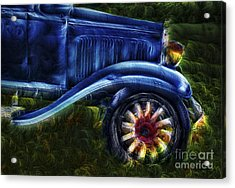 Funky Old Car Acrylic Print by Susan Candelario