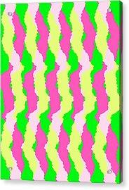 Funky Stripes Acrylic Print by Louisa Knight