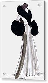 Fur Coat Acrylic Print by Mel Thompson