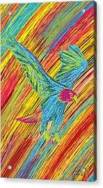 Furious Bold Bald Eagle Acrylic Print by Kenal Louis