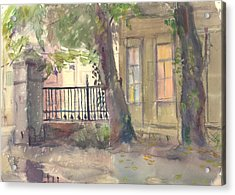 Furmanny Pereulok Acrylic Print by Leonid Petrushin