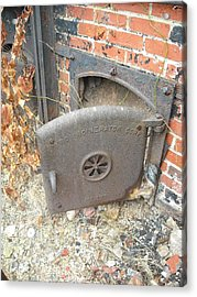 Acrylic Print featuring the photograph Furnace Door by Christophe Ennis