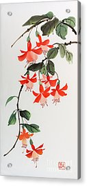 Acrylic Print featuring the painting Fuschia by Yolanda Koh