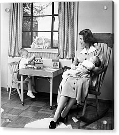 Future First Lady In 1952.  Betty Ford Acrylic Print by Everett