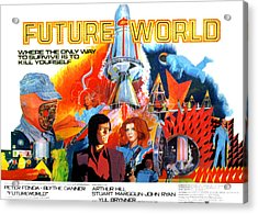Futureworld, Center, From Left Peter Acrylic Print by Everett