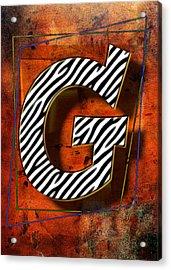 G Acrylic Print