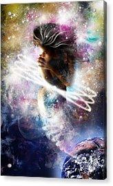Gaia Genie Acrylic Print by Julie L Hoddinott