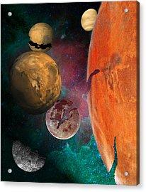 Galactic Junkyard Acrylic Print by Sarah McKoy