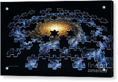 Galaxy Puzzle Acrylic Print by Lynette Cook