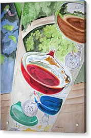 Galileo Thermometer Acrylic Print by Mary Kay Holladay