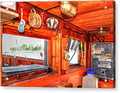 Galley Acrylic Print by Barry R Jones Jr