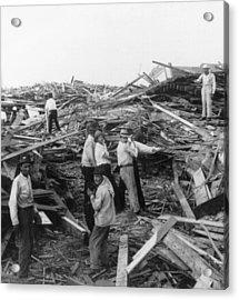 Galveston Disaster - C 1900 Acrylic Print by International  Images