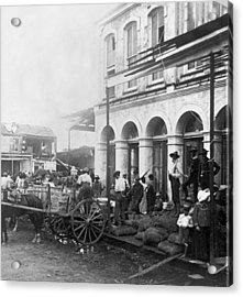 Galveston Flood - September - 1900 Acrylic Print by International  Images