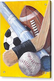 Game On Acrylic Print by Susan Bruner