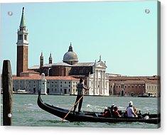 Gandola Rides In Venice Acrylic Print