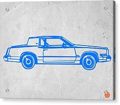 Gangster Car Acrylic Print