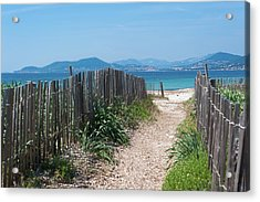 Ganivelles (fences) And Pathway To The Beach Acrylic Print by Alexandre Fundone