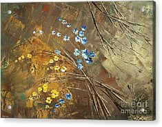 Acrylic Print featuring the painting Garage Band Split-up by Tatiana Iliina