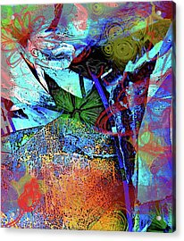 Garden Dance Acrylic Print by Empty Wall