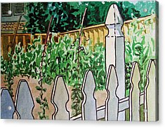 Garden Fence Sketchbook Project Down My Street Acrylic Print by Irina Sztukowski