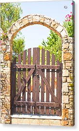 Garden Gate Acrylic Print by Tom Gowanlock