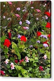 Garden In Creamery Acrylic Print