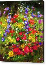 Garden In New Jersey Acrylic Print