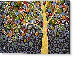 Garden Of Moons #1 Acrylic Print by Amy Giacomelli