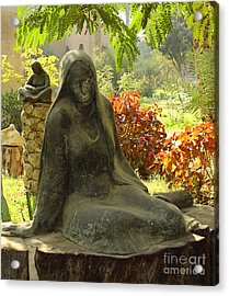 Garden Of Statues Egypt Acrylic Print by Mary Machare