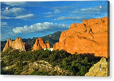 Garden Of The Gods Front Side View Acrylic Print by Gene Sherrill