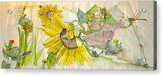 Garden Of Yellow Acrylic Print