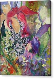 Garden Party Acrylic Print by Claudia Smaletz